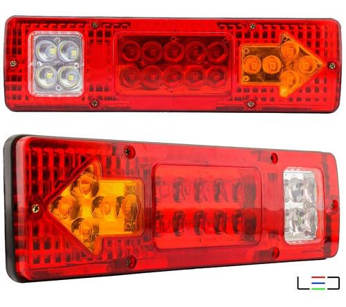Par Lanternas Led Caminhão Carreta Baú Truck Tanque 12v