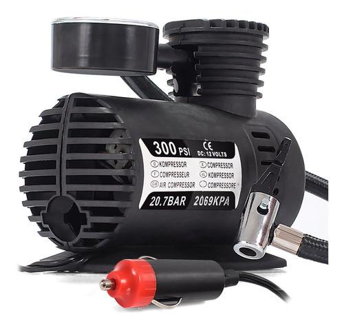 Mini Compressor De Ar 12v Automotivo 300 Psi Pneu Portátil