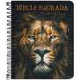 Bíblia Anote Espiral Plus Leão De Judá Arc Letra Maior Lette