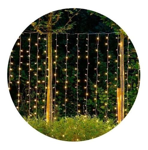 Guirnalda Cortina 144 Luces Led Cálidas Decoración Ambiente