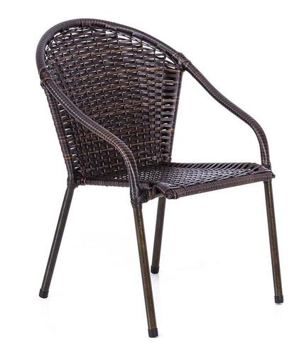 Cadeira Poltrona Area Varanda Junco Fibra Sintética Avelã