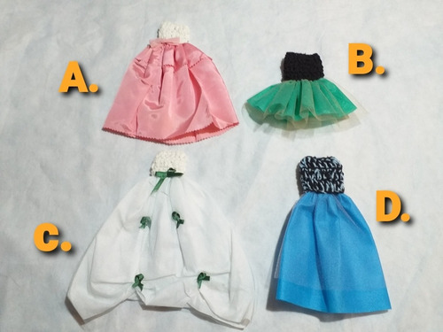 Vestido De Princesa Gala Para Muñeca Barbie O Similar Oferta