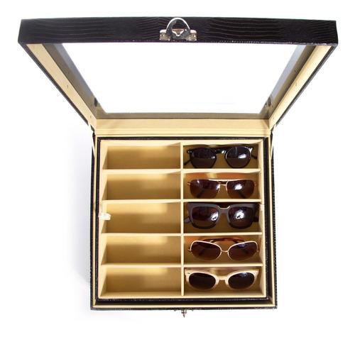 Caixa Para 20 Óculos Maleta Estojo Porta Closet Organizado