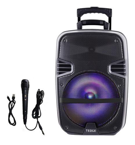 Parlante Karaoke Portátil 8w Bluetooth Micrófono 12 Pulgadas