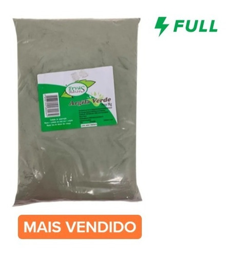 Argila Verde Pó Máscara Facial E Corporal Pacote De 1 Kg