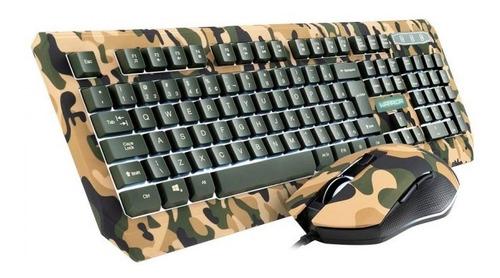 Teclado E Mouse Warrior Kyler Gamer Army Tc249