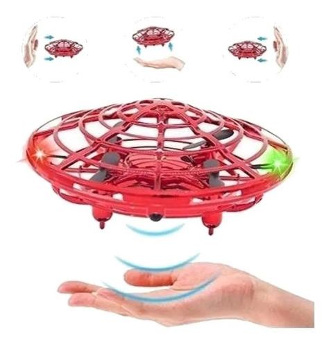 Brinquedo Drone Ufo Infantil Vermelho Com Luz E Sensor