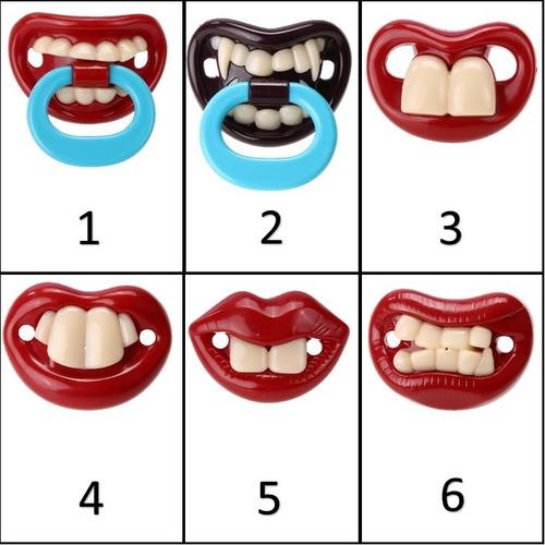 Chupeta Ortodontica Engraçadas E Divertidas 3m+ Bpa Free