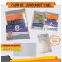 Capa De Livro Escolar Ajustável Kit 10 Unidades