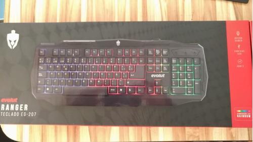 Teclado Gamer Evolut Ranger Eg207 Backlight Rainbow