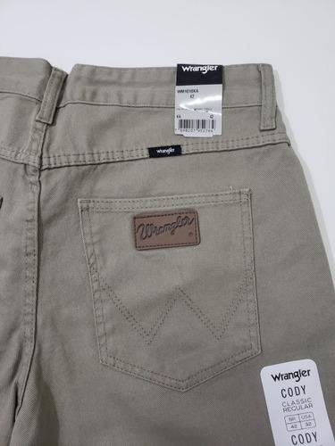 Calça Jeans Wrangler 100% Algodão Corte Reto Tradicional Cor