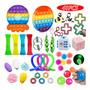 41pc Pop it Fidget Toy Empurre Pop Bubble Autismo Anti stres