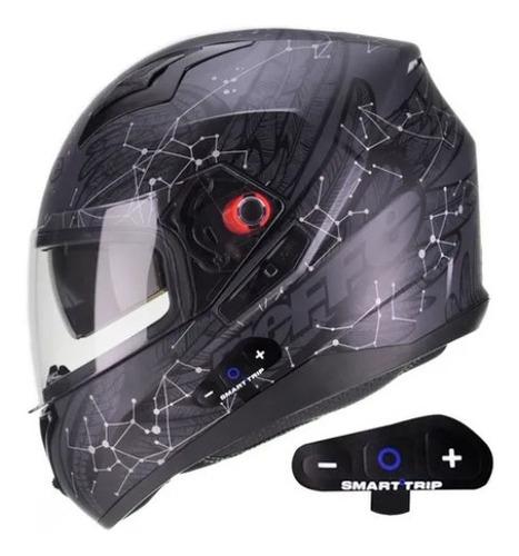 Capacete B 40 Astro Bieffe Com Bluetooth Acoplado Smart Trip