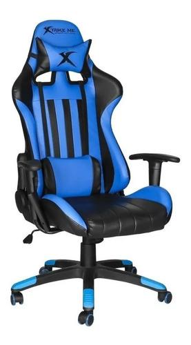 Silla Sillón Gamer Xtrike Me Gc-905 Butaca Reclinable Azul