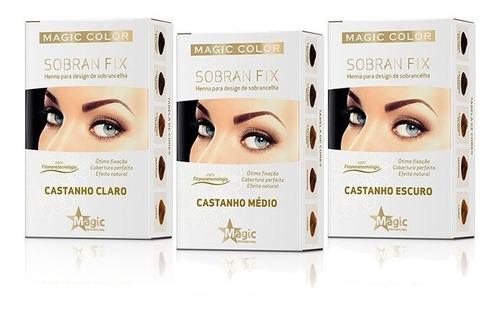 Henna Sobran Fix Magic Color Castanho Claro - Médio - Escuro