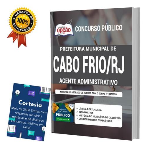 Apostila Prefeitura Cabo Frio Rj Agente Administrativo