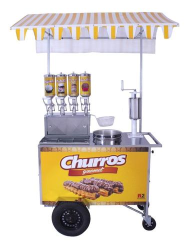 Carrinho De Churros Gourmet Masseira Fuso E 4 Doceiras - R2