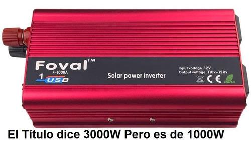 Inversor O Convertidor De Corriente 3000 Watt 12v A 110v
