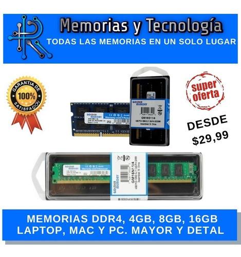 Memoria Ram Ddr4 De 4gb 8gb 16gb  2133mhz  2400mhz 2666mhz