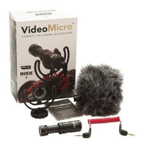 Microfone Profissional Rode Videomicro Canon, Nikon E Sony
