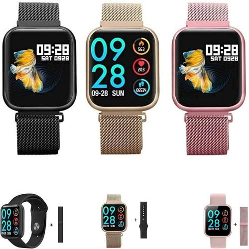 Relógio Smartwatch P80 Original Brinde Pulseira Extra