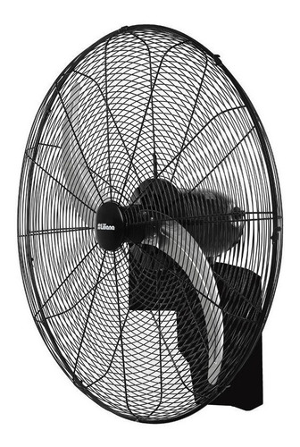 Ventilador De Pared Liliana Vwi32 Negro Con 2 Palas Color  Plata De  Metal, 32  De Diámetro 220v