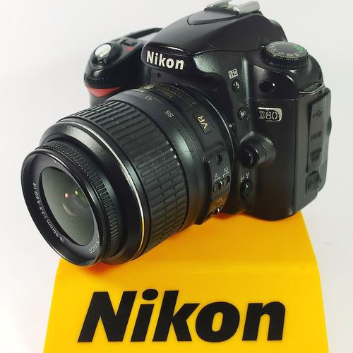 Câmera Nikon D80 Kit Lente 18-55 Vr (semi Nova)