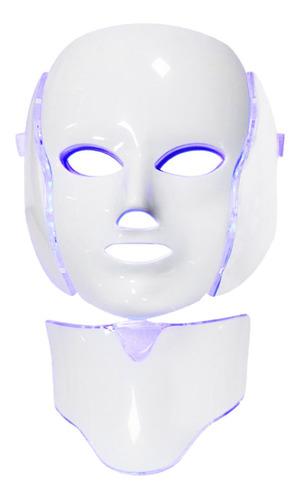 Máscara Facial Para Pescoço Com Luz Led De 7 Cores,