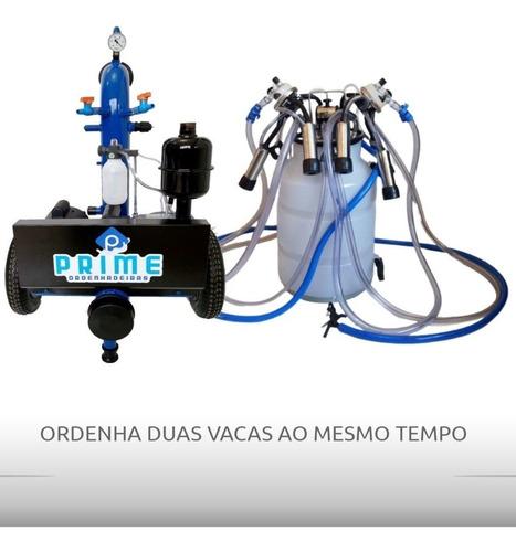 Ordenhadeira Mecanica Móvel Prime 300 L Com Conjunto Duplo