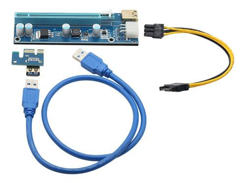 Ubit 6 Pack Último Pci-e Riser Exprés Cable 1x A 16x Con