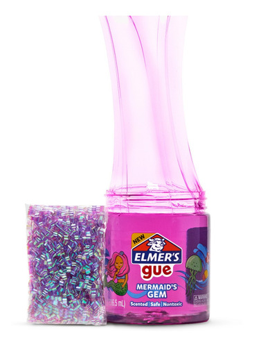 Slime Elmer's Gue Sirena Retro Glam Con Fragancia Y Pepitas