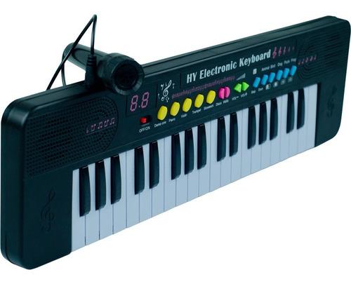 Teclado Musical Infantil 37 Teclas 3 Ritmos + Microfone
