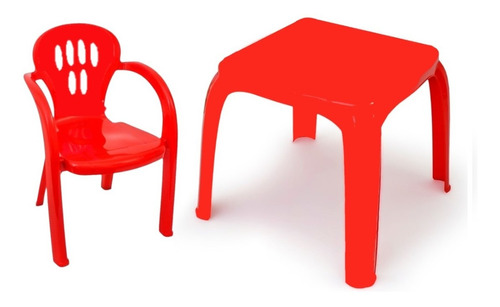 Kit Mesa Mesinha E 2 Cadeira Infantil Plástico Azul Ou Rosa