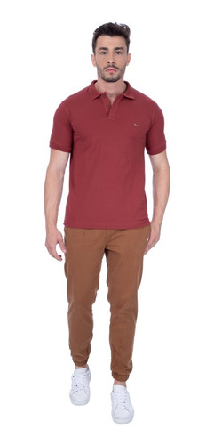 Camisa Polo Masculina Urbô Bordô