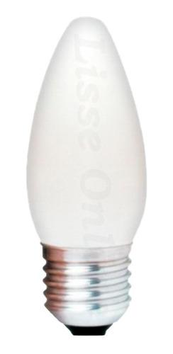 Lâmpada Vela 40w Rosca E-27 127v Incandescente Leitosa Abaju Original