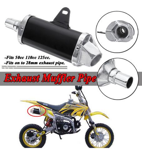 Motocicleta Silenciador Escape Tubo 50cc 110cc 125cc Bicicle