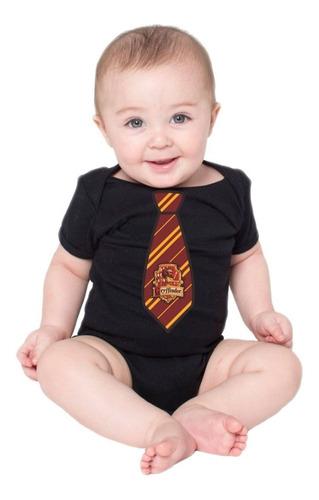 Body Harry Potter Bebe Gravata Grifinoria Bodies Baby Filme