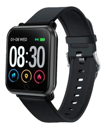 Smartwatch Nictom Smartwatch Sw11 1.54  Caja  Negra Malla  Negra De  Silicona