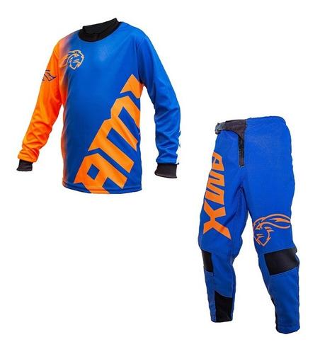 Roupa Motocross Trilha Infantil Calça camisa Amx Extreme