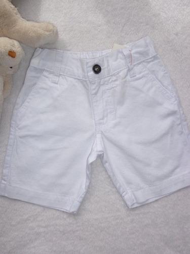 Bermuda Short Jeans Suspensório Gravata Infantil Menino Bebê