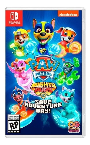 Paw Patrol: Mighty Pups Save Adventure Bay Outright Games Nintendo Switch  Físico