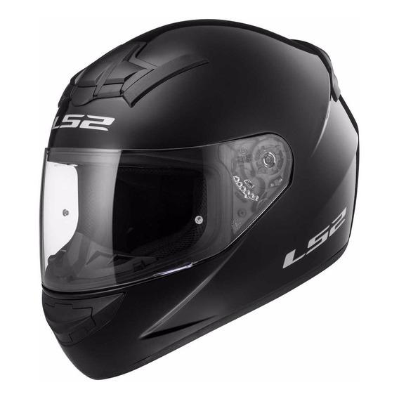 Casco Moto Integral Ls2 352 Rookie Negro Brillo Cuotas