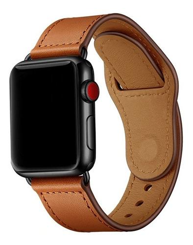 Pulseira Couro Legítimo Para Apple Watch 38/40mm E 42/44mm