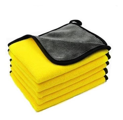 Pano Toalha De Microfibra Automotivo Limpa Sem Risco 600gsm