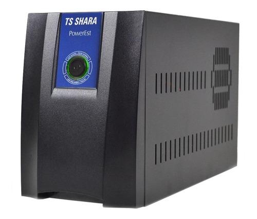Estabilizador De Tensão Ts Shara Powerest 2500 2500va Entrada De 115v/220v E Saída De 115v Preto