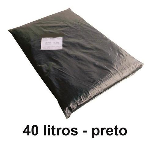 10 Kilos Saco De Lixo Preto Embalagem Reforçado 0,20 Micras