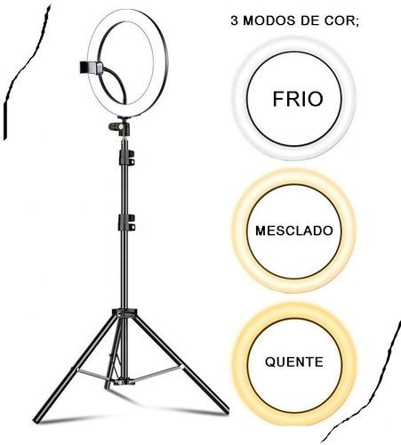 Kit Youtuber Righ Light 10 Polegadas + Suporte + Tripé 2,1 M