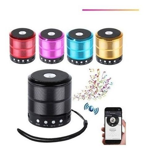 Caixa De Som Bluethooth Recarregável Ws-887 Mini Speaker
