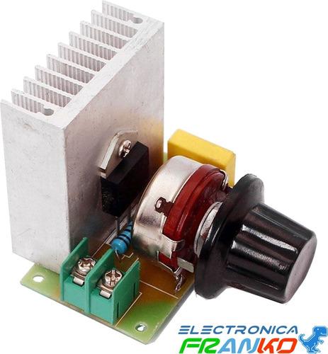 Dimmer Regulador De 220v 3800 W. Motores, Focos, Incubadora