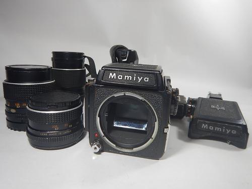 Kit Câmera Mamiya M645 - Japonesa - Médio Formato + Lentes